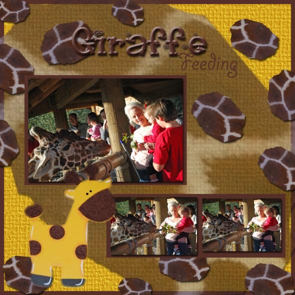 Giraffe Feeding Page 1