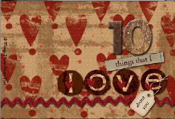10 Things I love About You Scrapbook
