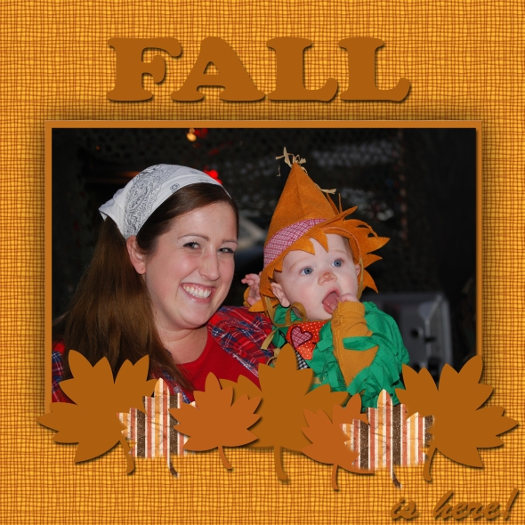 Fall Layout sample 1