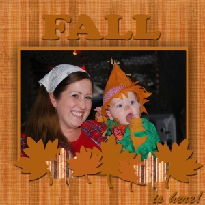 Fall Layout sample 3